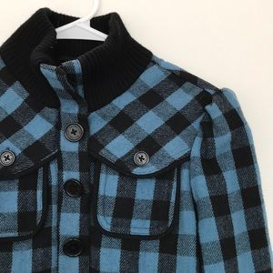 Black and Blue Plaid Billabong Jacket, Size Small